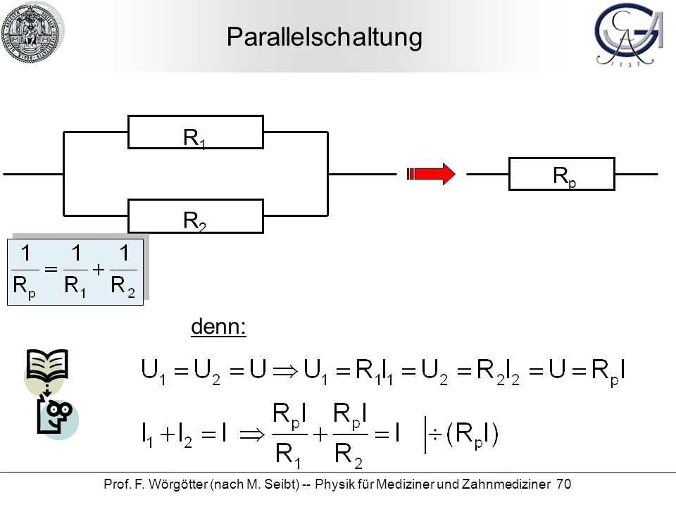 Parallelschaltung R1 Rp R2 denn: