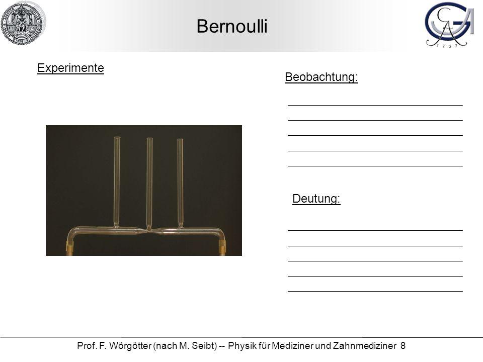 Bernoulli Experimente Beobachtung: Deutung: