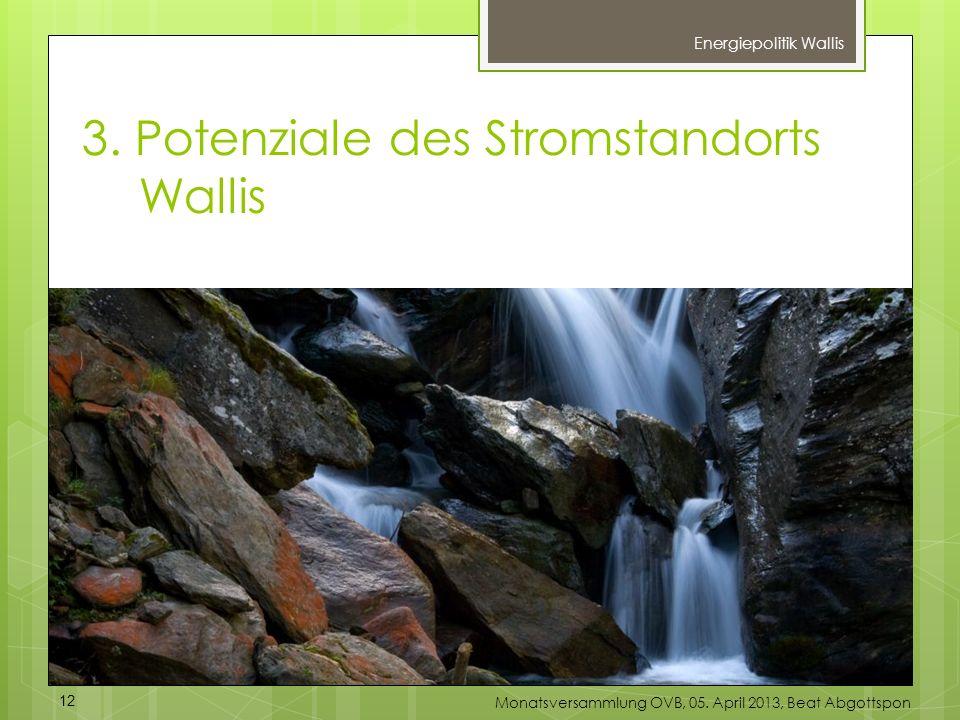 3. Potenziale des Stromstandorts Wallis