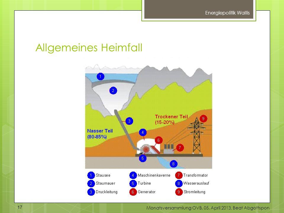Allgemeines Heimfall Energiepolitik Wallis 17