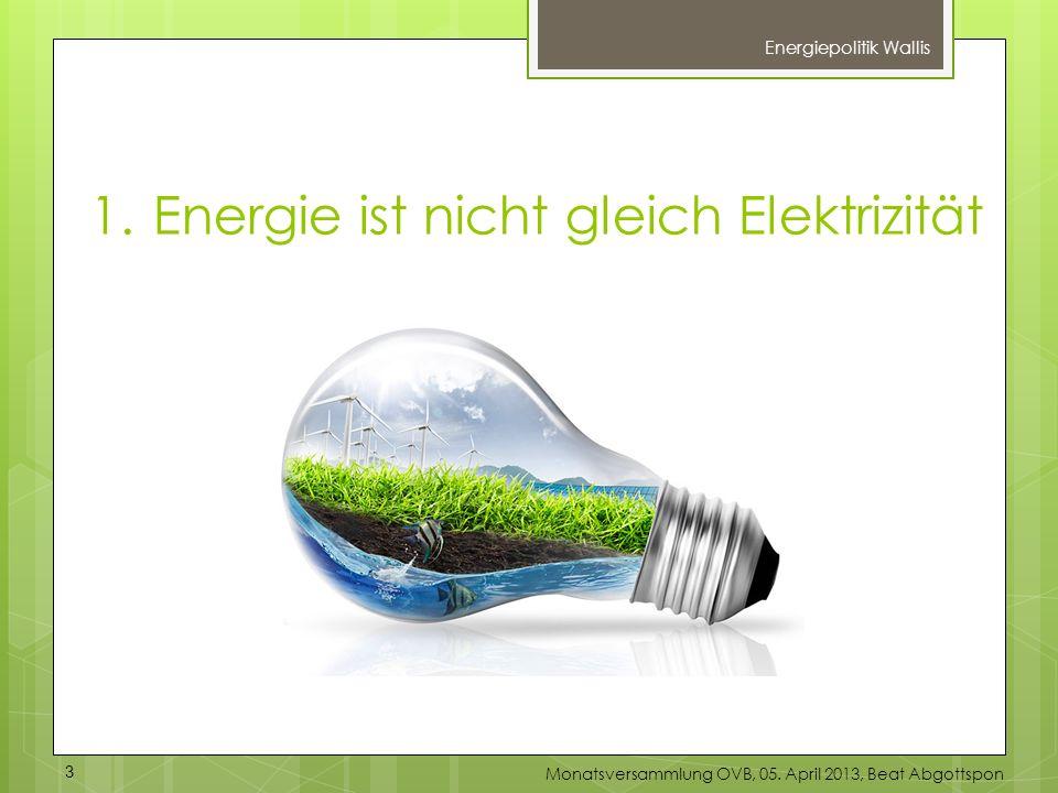 1. Energie ist nicht gleich Elektrizität
