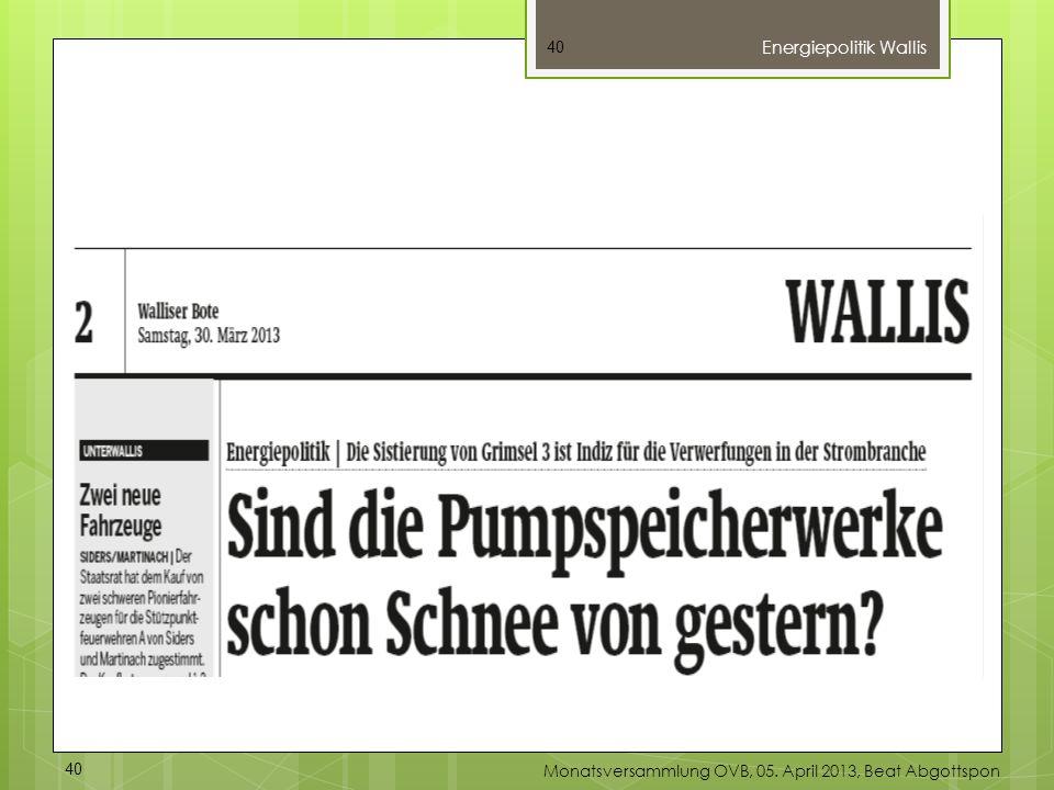 Energiepolitik Wallis