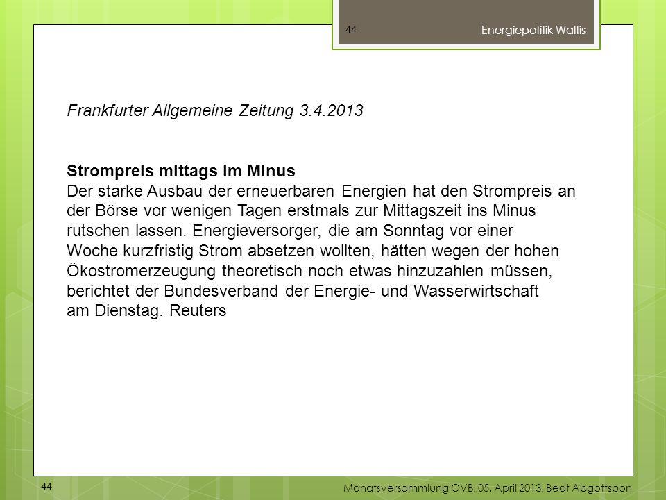 Frankfurter Allgemeine Zeitung 3.4.2013