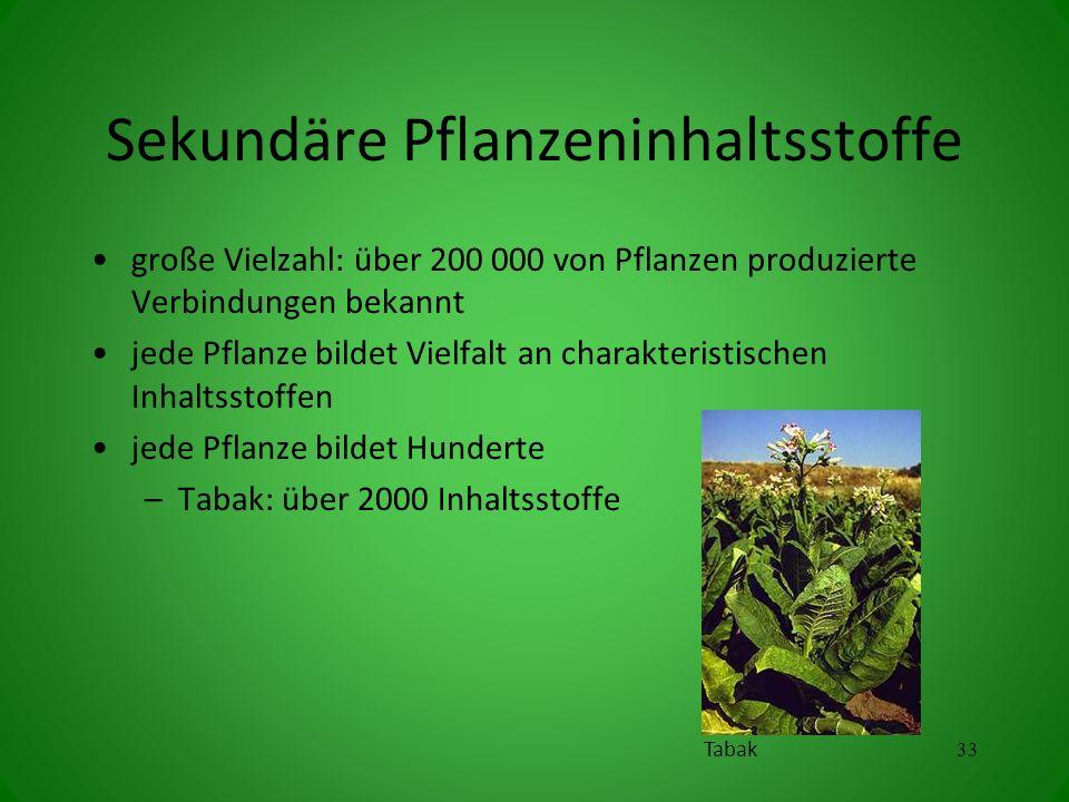 Sekundäre Pflanzeninhaltsstoffe