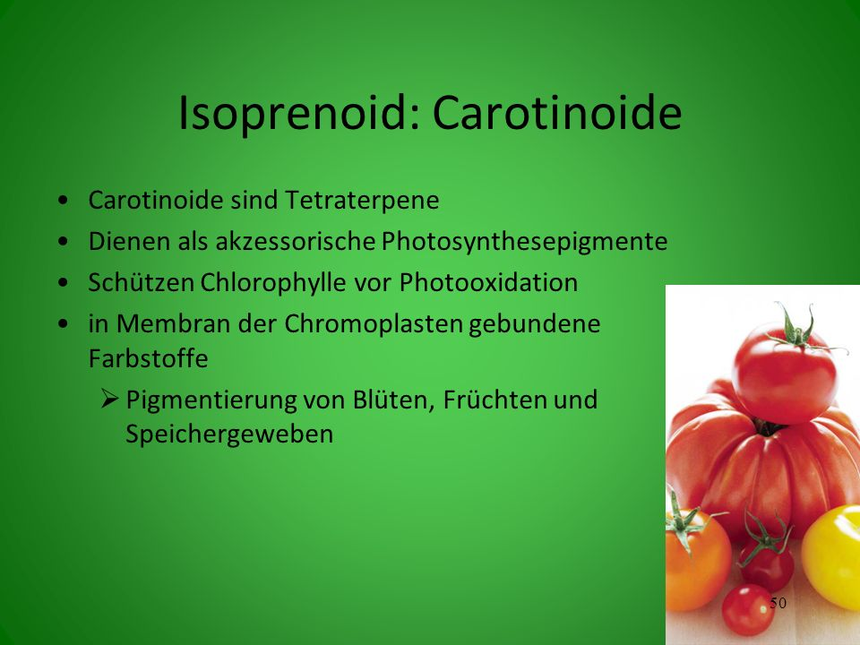 Isoprenoid: Carotinoide
