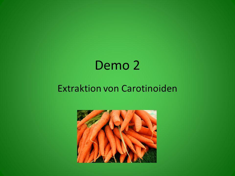 Extraktion von Carotinoiden