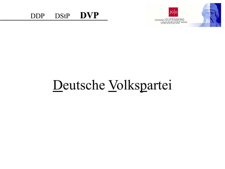 DDP DStP DVP Deutsche Volkspartei