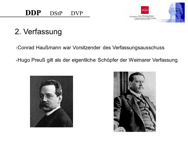 DDP DStP DVP 2. Verfassung