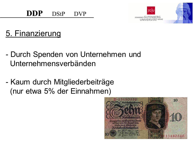 DDP DStP DVP 5. Finanzierung