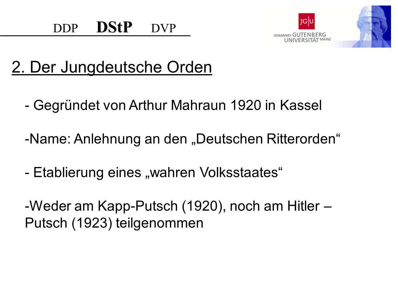 2. Der Jungdeutsche Orden