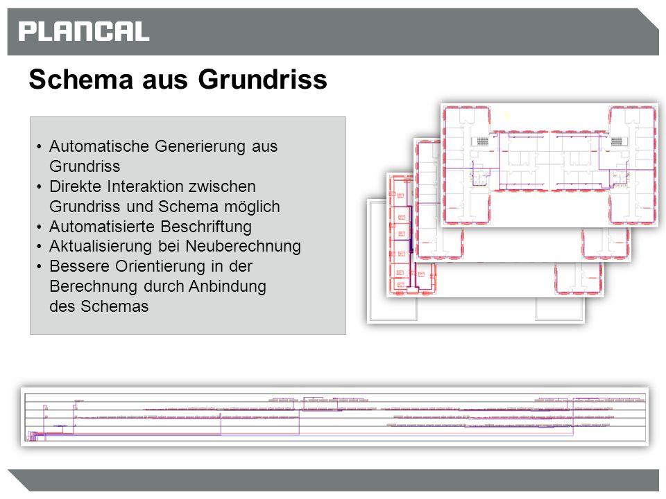 Schema aus Grundriss Automatische Generierung aus Grundriss
