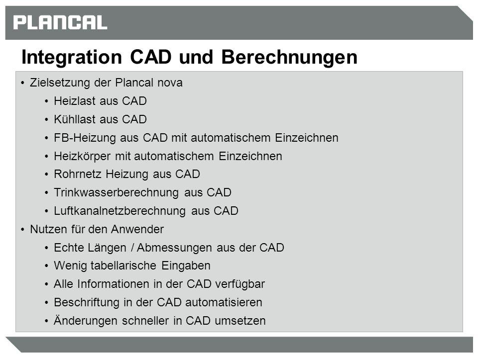 Integration CAD und Berechnungen