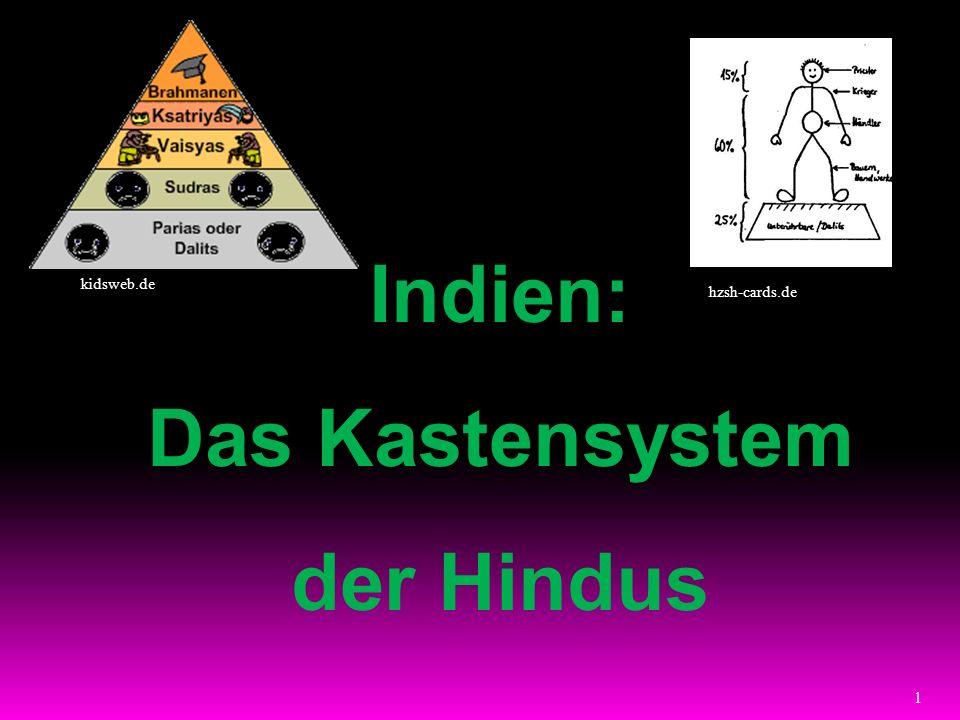 Indien: Das Kastensystem der Hindus