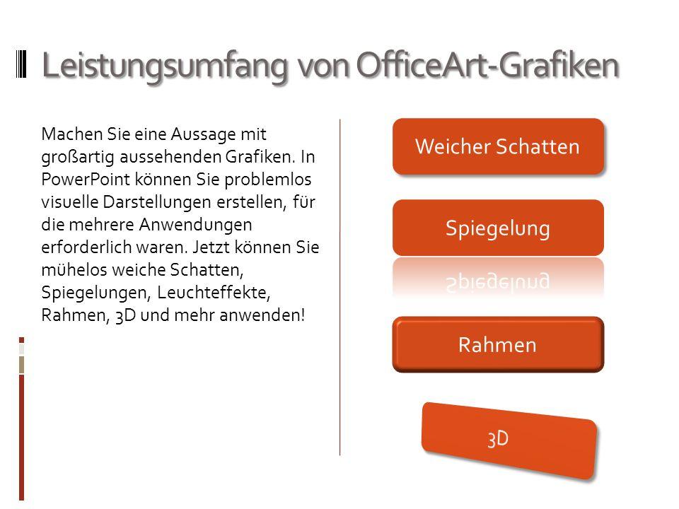 Leistungsumfang von OfficeArt-Grafiken