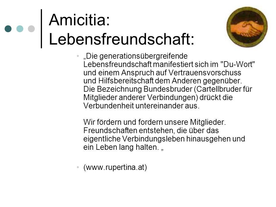 Amicitia: Lebensfreundschaft: