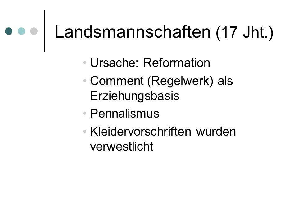 Landsmannschaften (17 Jht.)