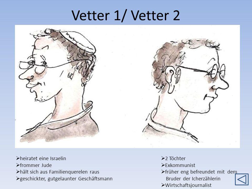 Vetter 1/ Vetter 2 heiratet eine Israelin frommer Jude