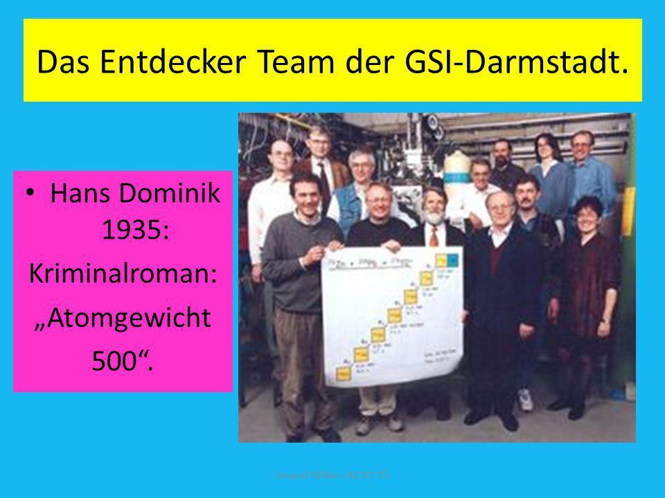 Das Entdecker Team der GSI-Darmstadt.