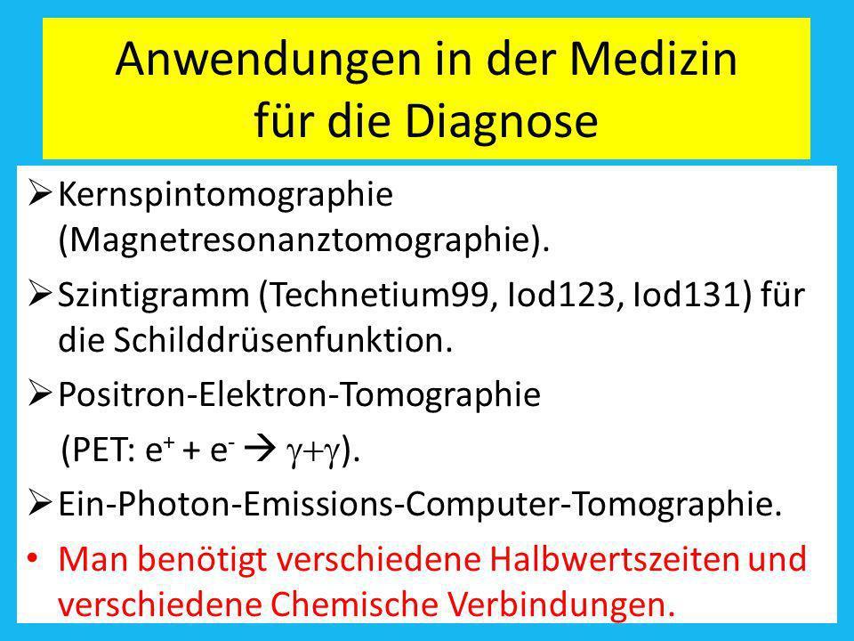 Anwendungen in der Medizin für die Diagnose