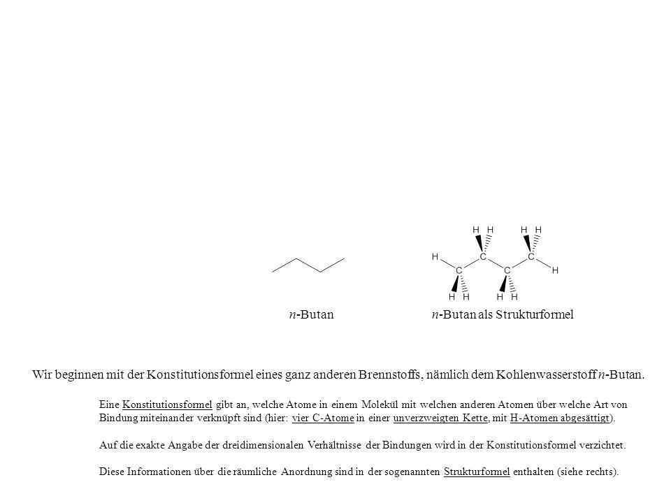 n-Butan als Strukturformel
