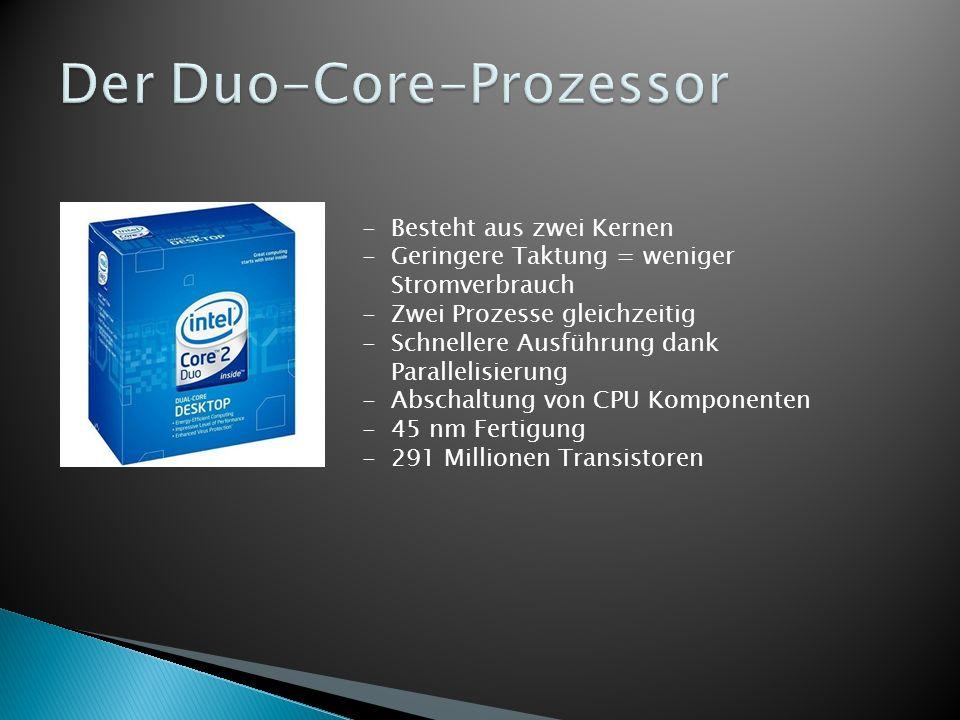 Der Duo-Core-Prozessor