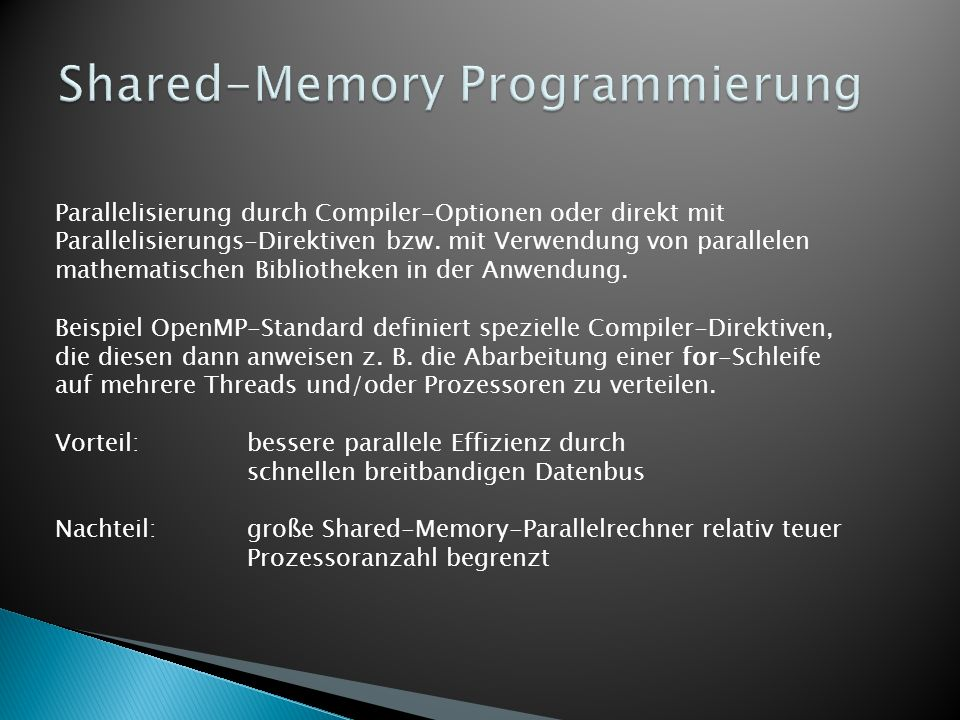 Shared-Memory Programmierung