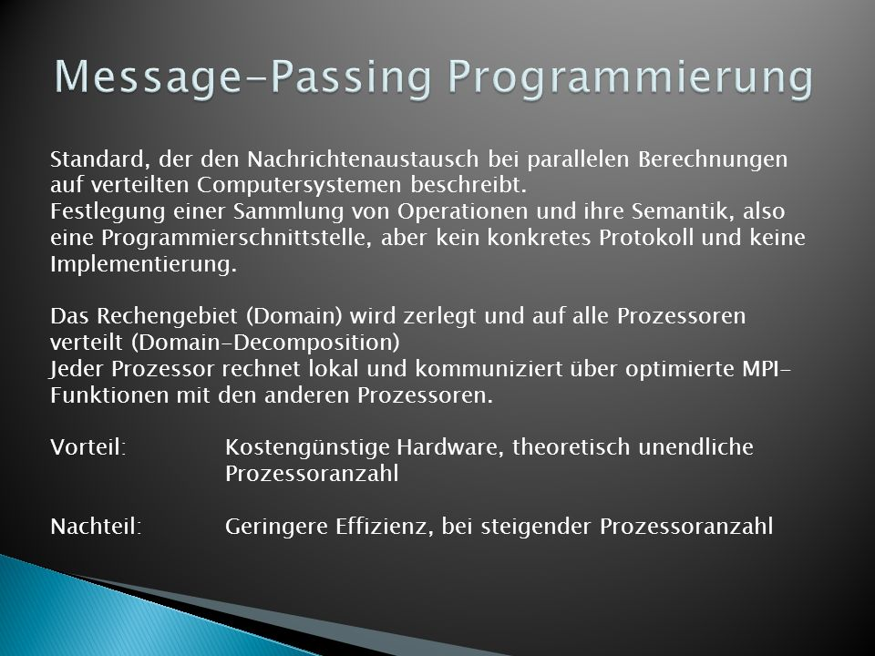 Message-Passing Programmierung
