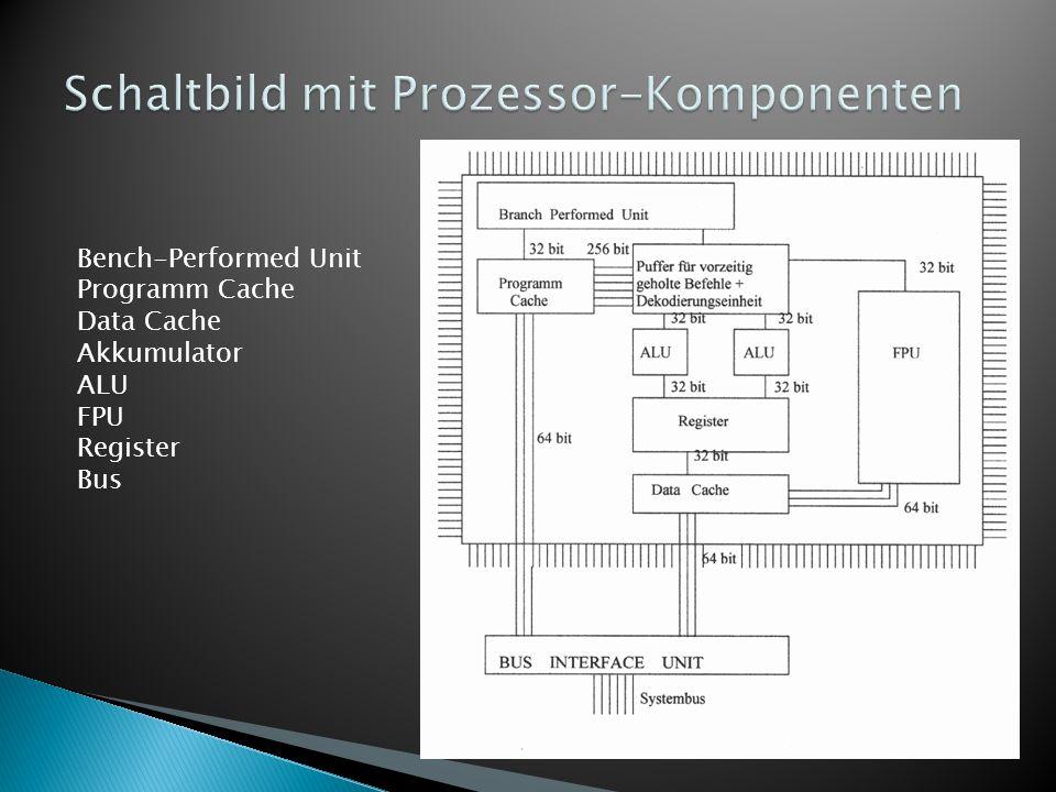 Schaltbild mit Prozessor-Komponenten