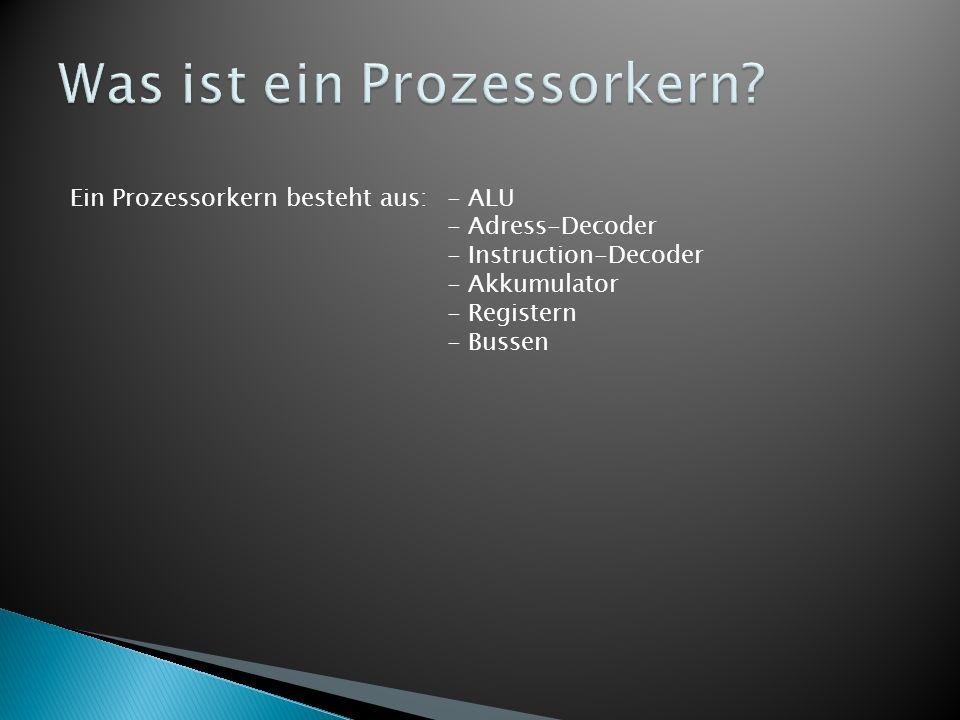 Was ist ein Prozessorkern