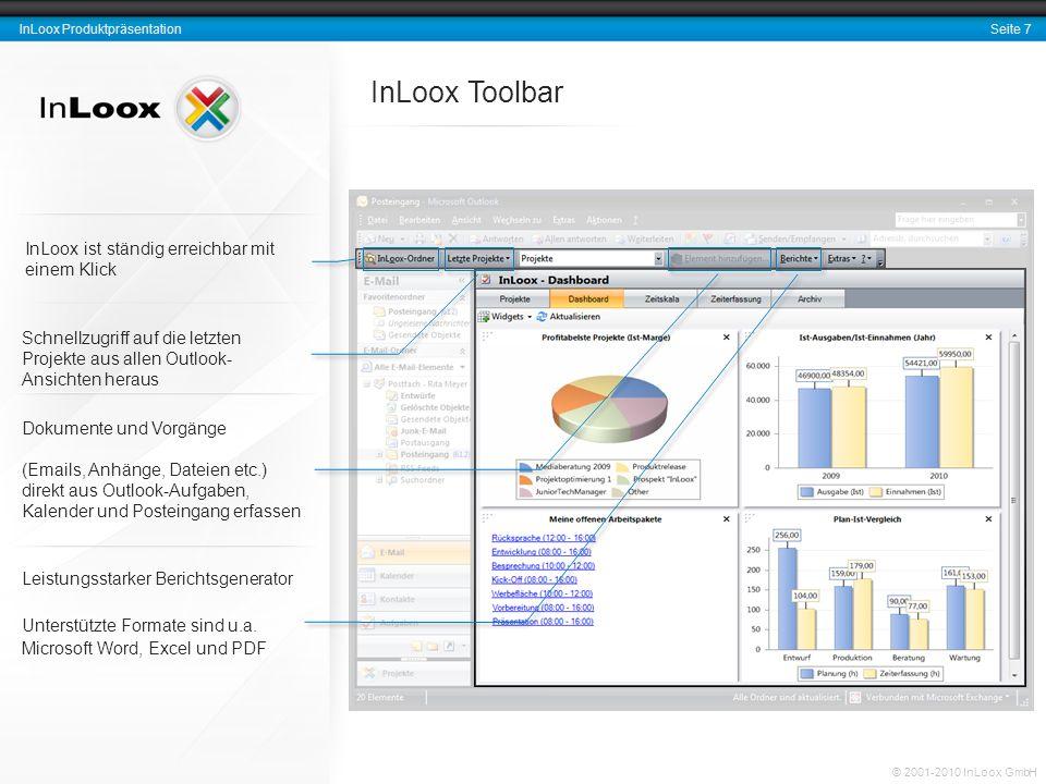 InLoox Toolbar InLoox ist ständig erreichbar mit einem Klick
