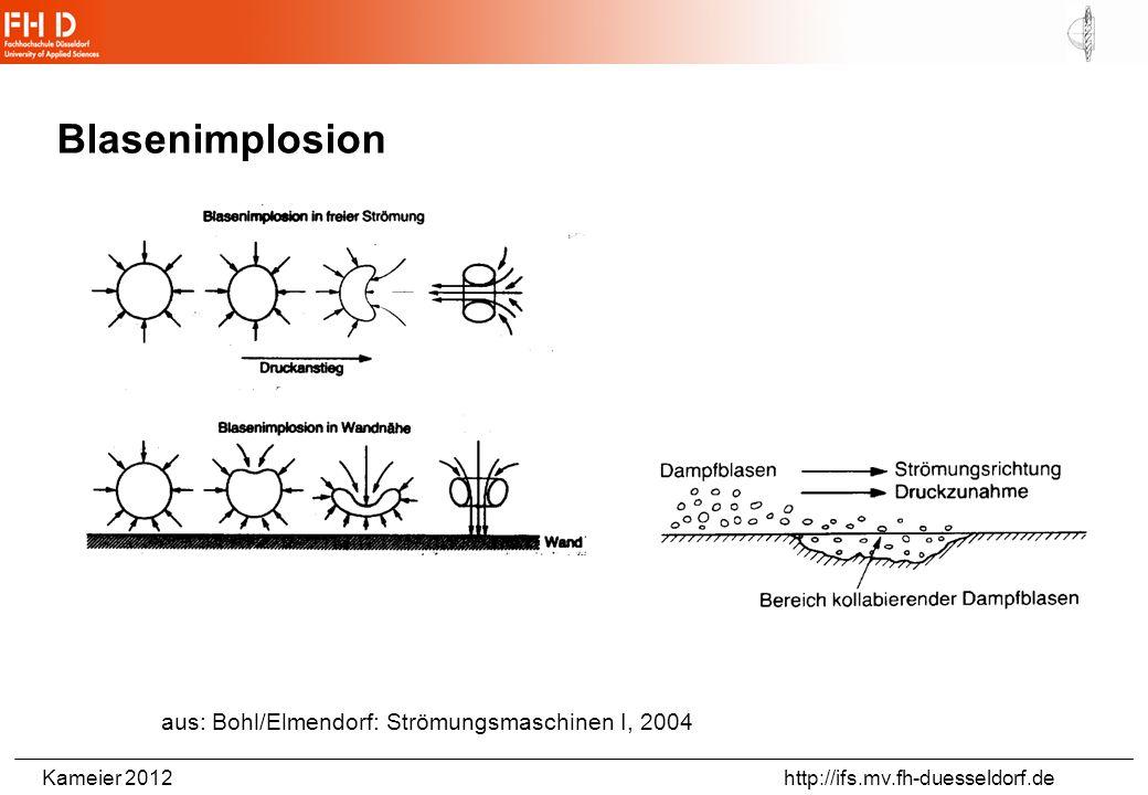 Blasenimplosion aus: Bohl/Elmendorf: Strömungsmaschinen I, 2004