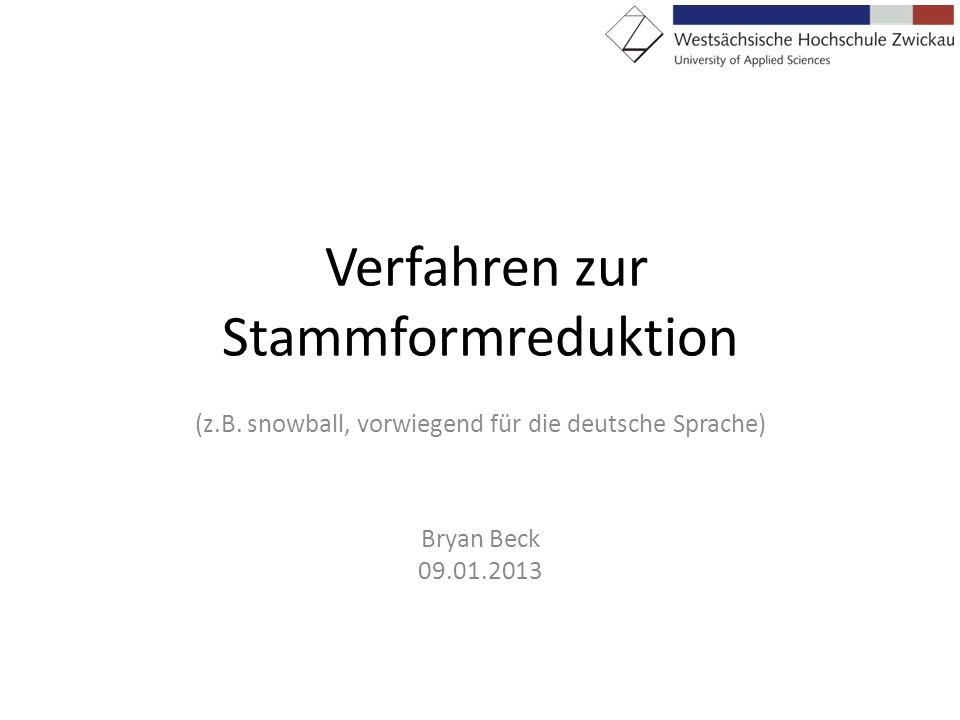 Verfahren zur Stammformreduktion