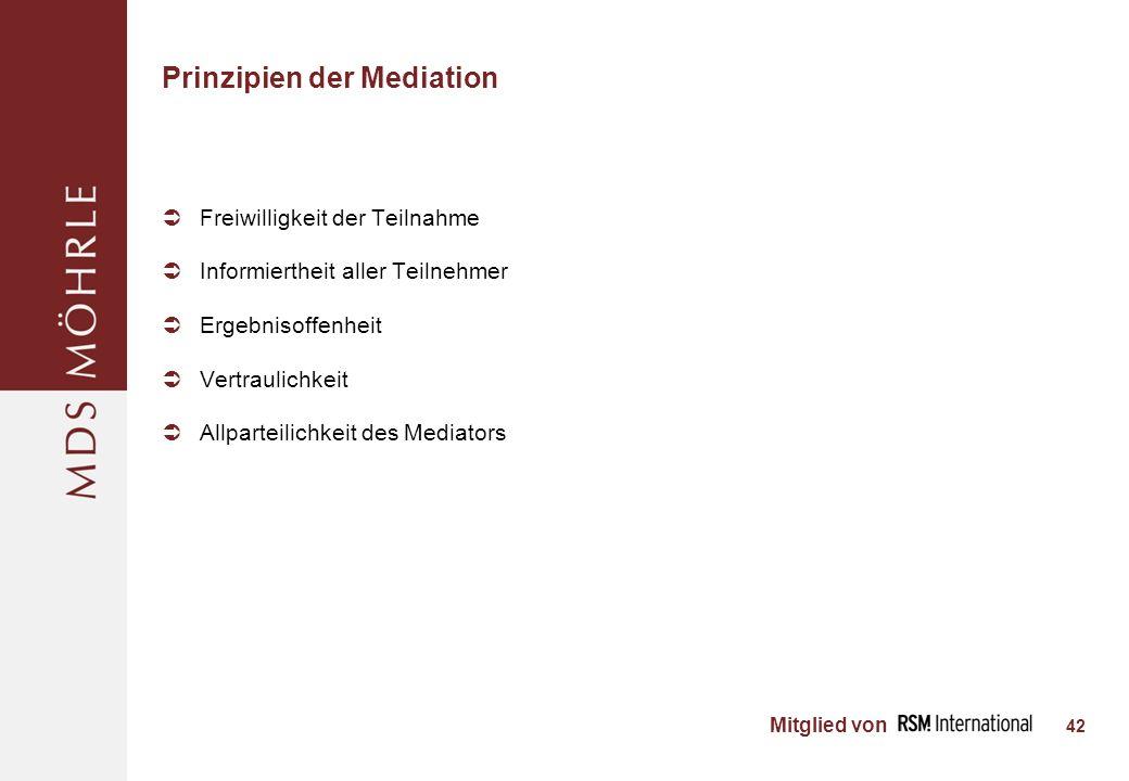 Prinzipien der Mediation