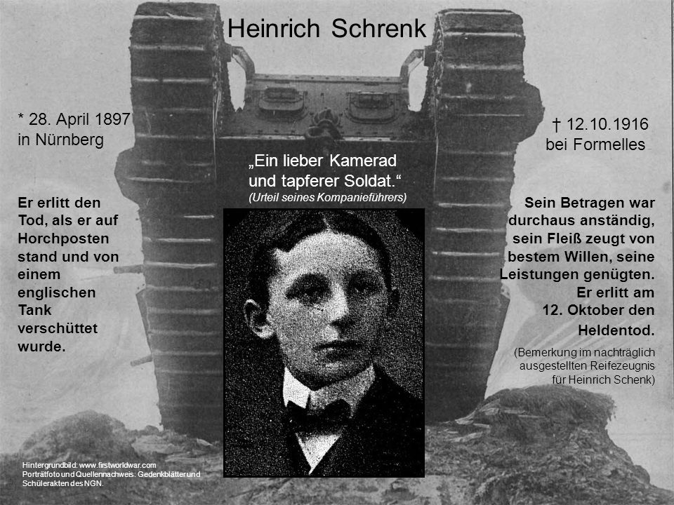 Heinrich Schrenk * 28. April 1897 in Nürnberg
