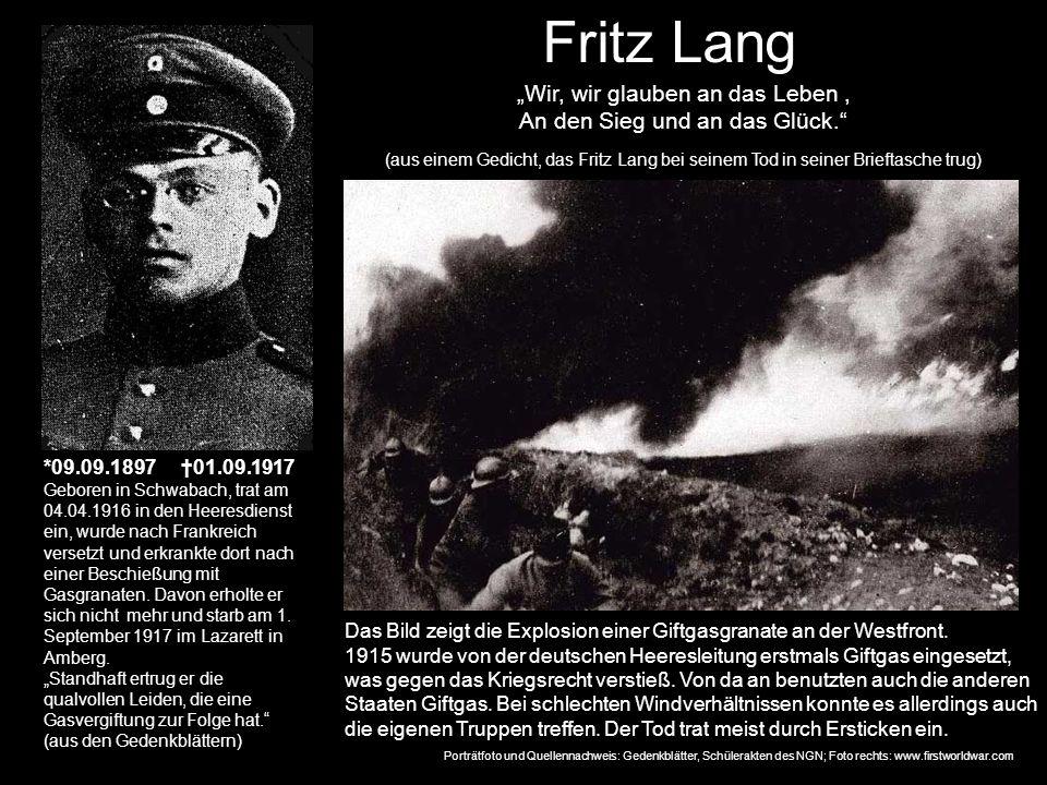 """Fritz Lang """"Wir, wir glauben an das Leben ,"""