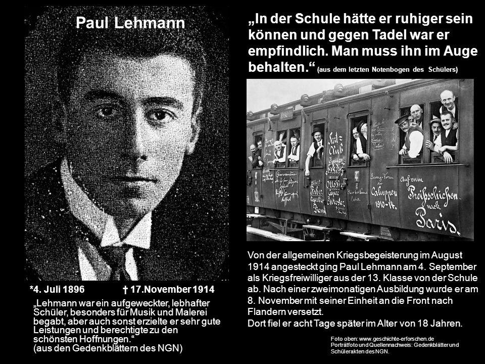 """Paul Lehmann """"In der Schule hätte er ruhiger sein"""