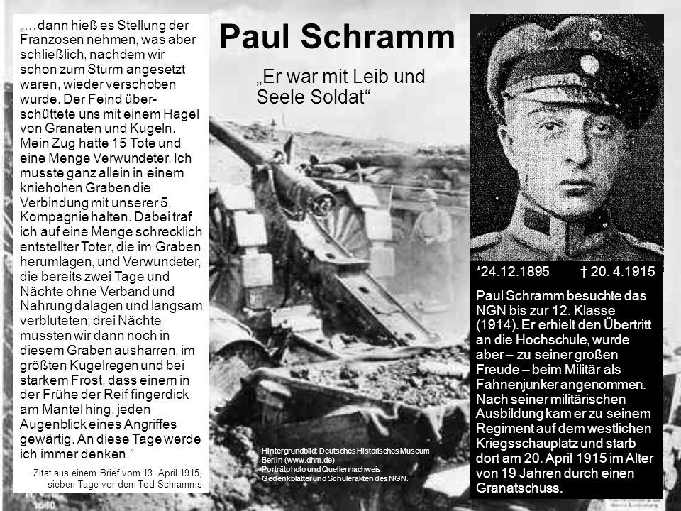 """Paul Schramm """"Er war mit Leib und Seele Soldat"""