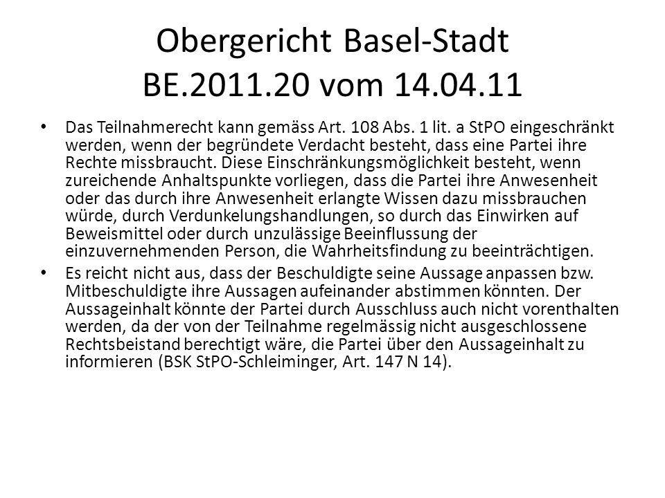 Obergericht Basel-Stadt BE.2011.20 vom 14.04.11