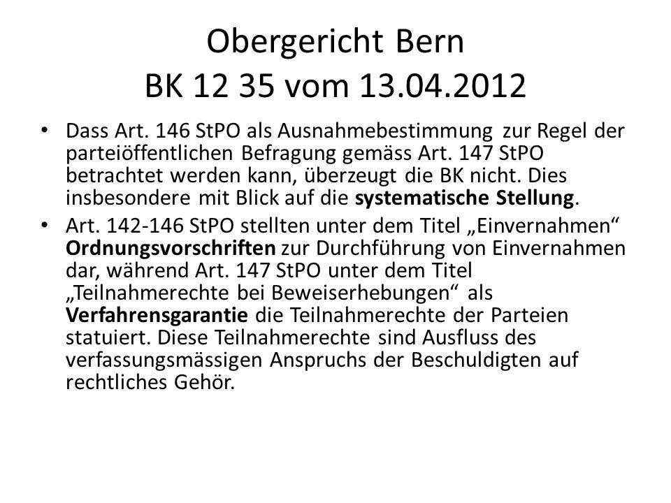 Obergericht Bern BK 12 35 vom 13.04.2012