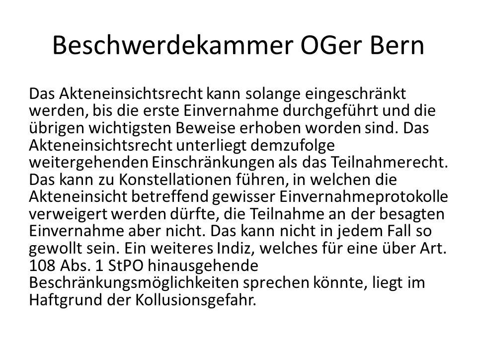 Beschwerdekammer OGer Bern