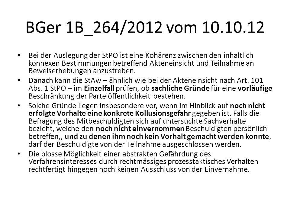BGer 1B_264/2012 vom 10.10.12