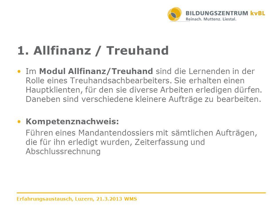 1. Allfinanz / Treuhand