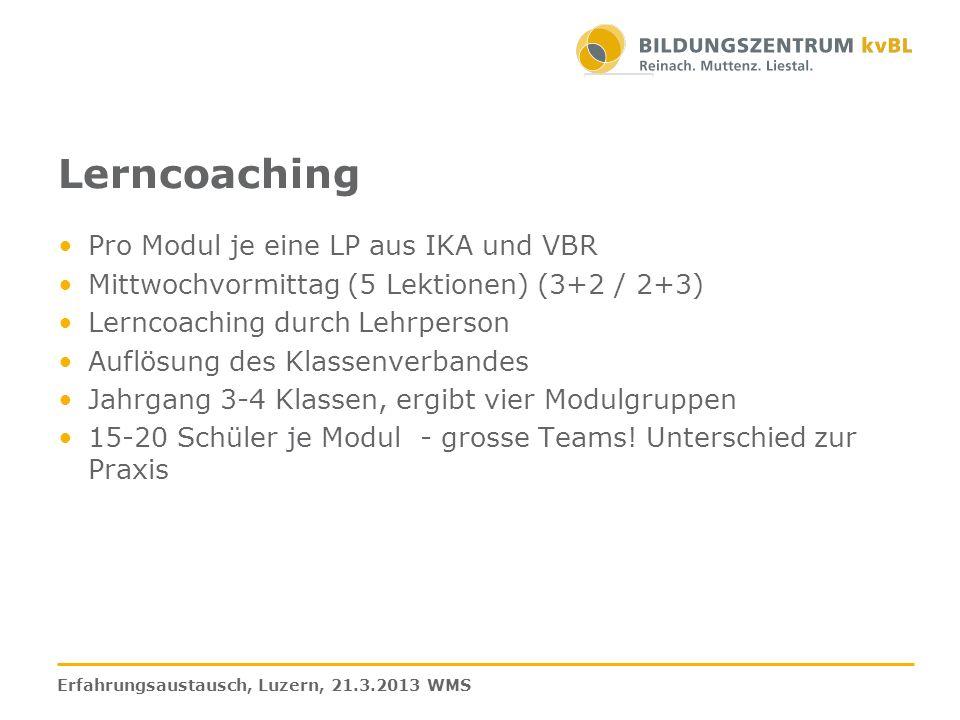 Lerncoaching Pro Modul je eine LP aus IKA und VBR