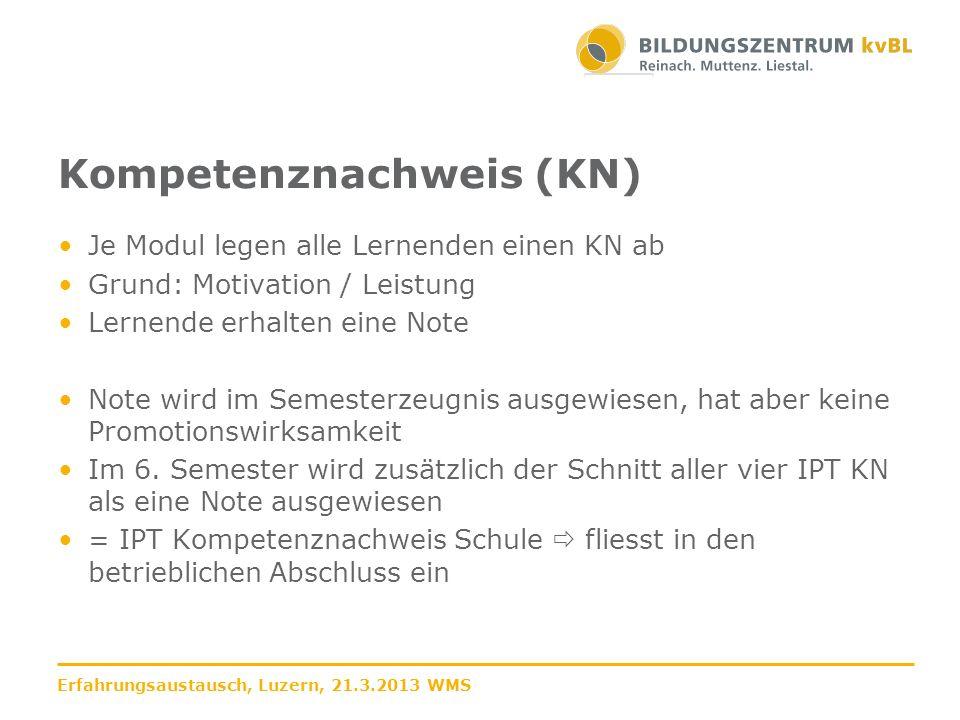 Kompetenznachweis (KN)