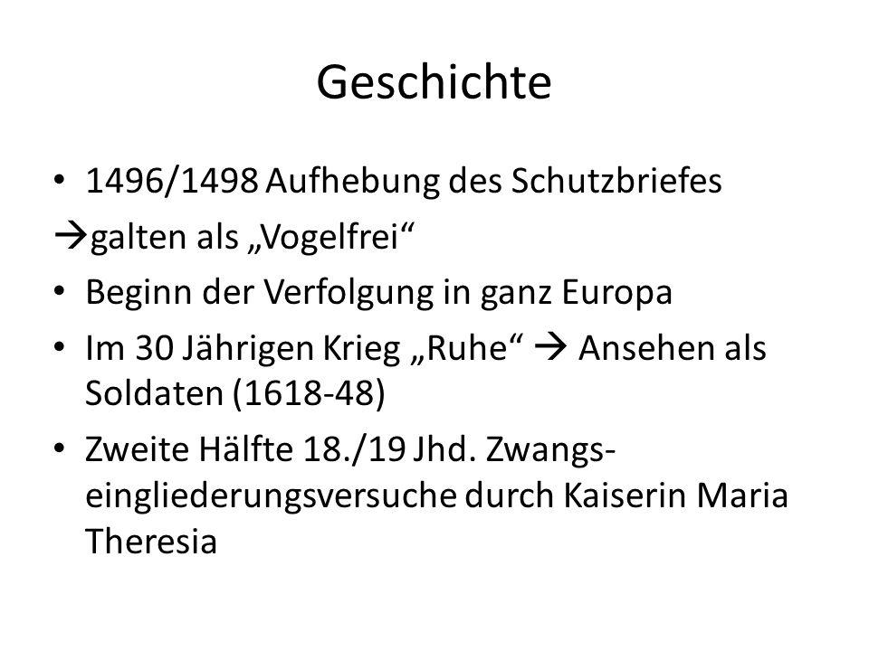 Geschichte 1496/1498 Aufhebung des Schutzbriefes