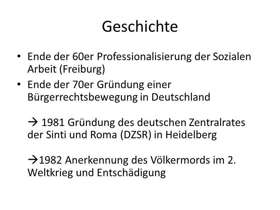 Geschichte Ende der 60er Professionalisierung der Sozialen Arbeit (Freiburg)