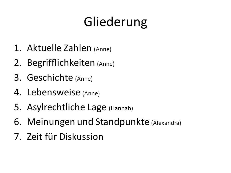 Gliederung Aktuelle Zahlen (Anne) Begrifflichkeiten (Anne)