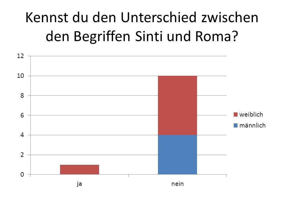 Kennst du den Unterschied zwischen den Begriffen Sinti und Roma