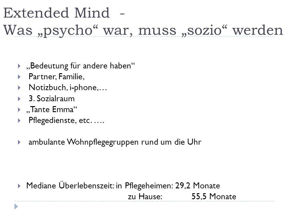 """Extended Mind - Was """"psycho war, muss """"sozio werden"""