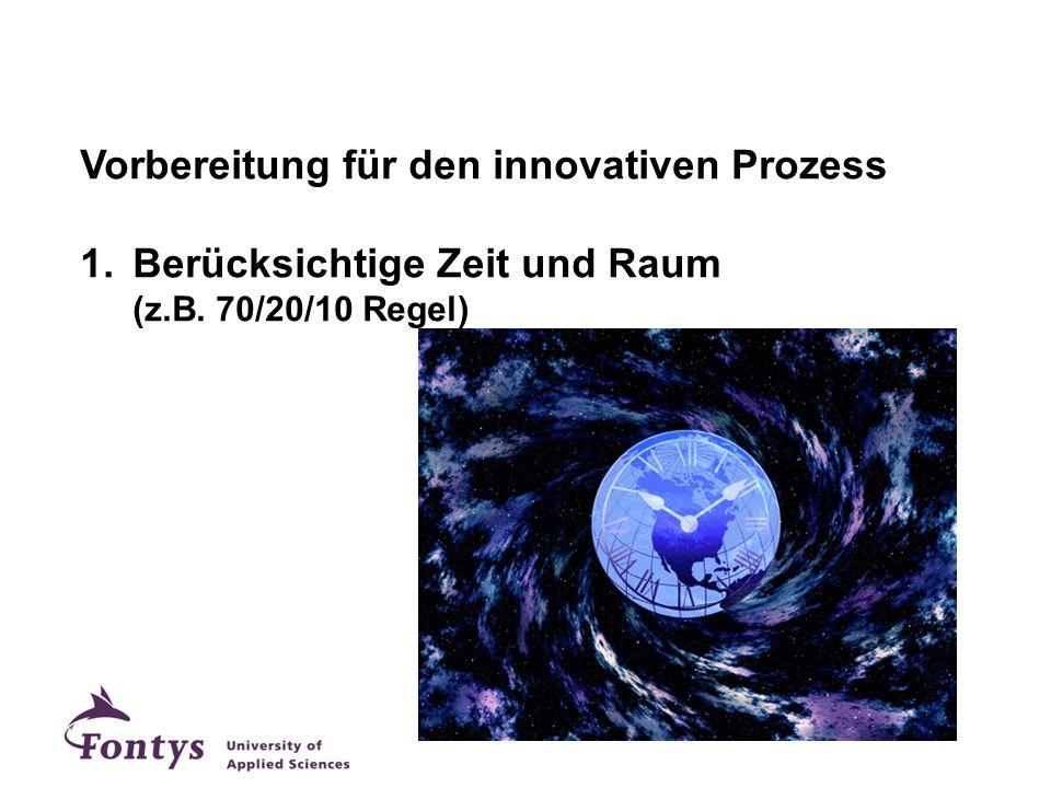 Vorbereitung für den innovativen Prozess